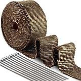 ilauke 10m Hitzeschutzband Basaltfaser Auspuffband Krümmerband Fächerkrümmer Thermoband Hitzeschutz bis