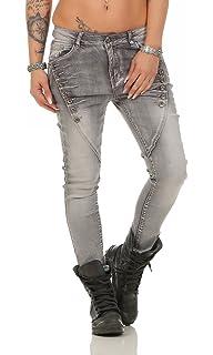 4789 Knackige Damen Jeans Hose Boyfriend Haremsjeans Röhren Damenjeans pants