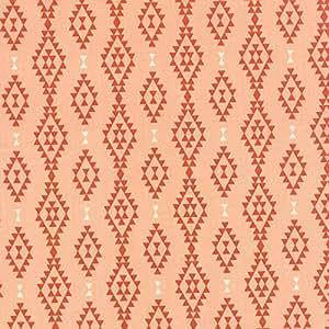 Tissu en coton Fat Quarter–Moda–Nomad–Aztec géométrique Pêche