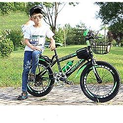 WY-Tong Velo Fille Vélo Enfants vélo de Montagne pour Enfants 20 Pouces Vitesse Variable vélo Double Frein à Disque Amortisseur 21 Vitesses