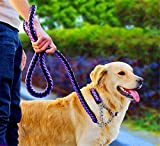 Pany Pamy Heavy Duty Hund Geflochten Halsband–Gear Martingal verstellbar Choke-Style Hund Halsband –, die Solide handgefertigt Seil Leine mit Bonus Pet Training eBook–Preis XES