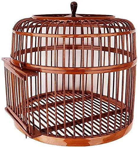 XWYGW Haustierbett Klassische Durable Indoor-Vogelkäfig Papageienkäfig im Freien Vogelzuchtkäfig Bambus Vogelträgerkäfig, Geeignet for Parrot/Vogel/Vogel -