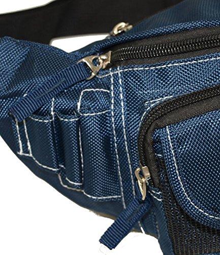 Herren Damen Bag Street Gürteltasche Bauchtasche Tasche neu 2414 Blau