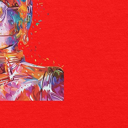NERDO - Colour Droid - Damen Kapuzenpullover Rot