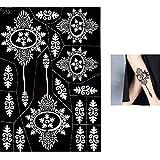 Tatuajes plantillas gran S330mehndi tatuaje plantilla AU henné–de uso único para el Corp–para tatuajes AU henné, tatuaje purpurina y aerógrafo tatuaje