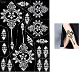 Tattoo Body Art Mehndi Schablone Henna Designs zur einmaligen Verwendung