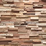 Holzverblender UltraWood Teak Colorado 3D Wood Panel