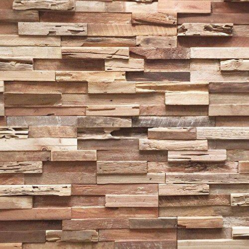 Holzverblender UltraWood Teak Colorado 3D Wood Panel