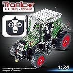 Tronico Metallbaukasten, RC Traktor FENDT 313 VARIO, ferngesteuert, 27 MHZ, 574 Teile, Maßstab 1:24, LED-Licht, 4-farbige Aufbauanleitung, inklusive Werkzeug, Junior Serie, ab 8 Jahren, rcee