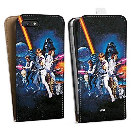 Apple iPhone 7 Hülle Premium Case Cover Star Wars Merchandise Fanartikel Episode IV Downflip Tasche weiß