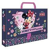 Disney Kinder Heftbo Schreibbox Ordner Aktentasche mit Griff Dokumentenmappe 33 x 24 x 4,5 cm Minnie...