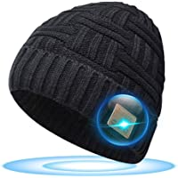 Stocking Fillers Gifts Bluetooth Beanie - Gifts for Men and Women Beanie with Bluetooth 5.0 Headphones, Christmas Advent…