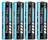 PEARL Akku AA: 2700 mAh NiMH-Akkus AA Mignon 4er-Set (Wiederaufladbare Batterien)