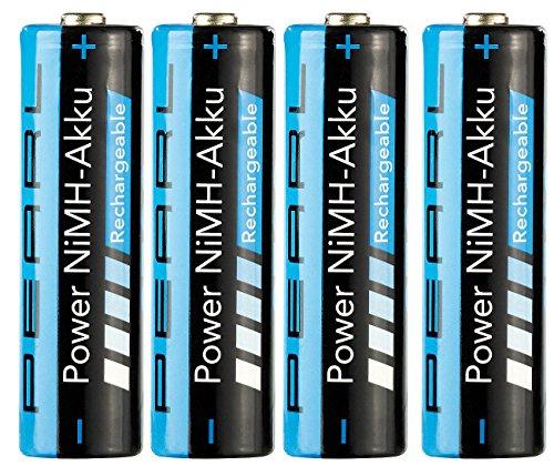 PEARL AA Accu: 2700 mAh NiMH-Akkus AA Mignon 4er-Set (wiederaufladbare Batterien)