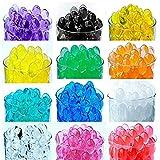 Wasser Perlen,Newland, 2400pcs 12 Farben Color Crystal Mud Wasserperlen Gelperlen Aquaperlen Vaseenfüller für Hochzeit und Möbel Dekoration (Mixed colors)