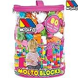 80 Bausteine in Tasche für Mädchen, versch. Größen und Farben, ab 1 Jahr: Steck Bausteine Kinder Spielzeug Steine Bauklötze Spielfiguren