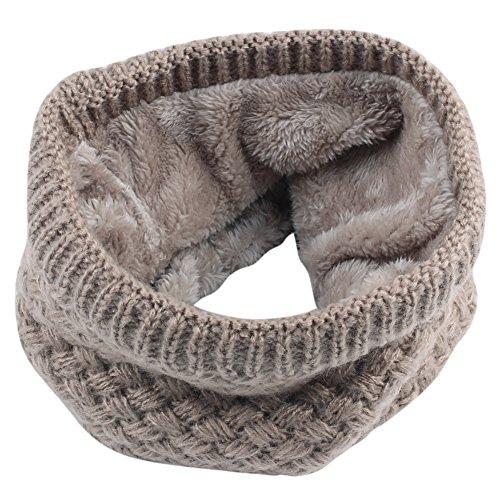 Bufanda de punto unisex, ANGTUO Bufanda de abrigo de invierno con cuello grueso y bufanda para mujer y hombre Bufanda de cuello - Mejor regalo