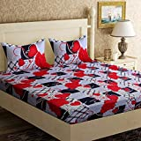 Cozyland 130 TC Polyester Double Bedsheet with 2 Pillow Covers, Black 2