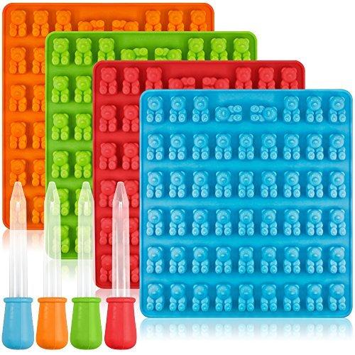 Bonbon-Form aus Silikon von Aifuda, 4 Stück, farbenfrohe Form für Gummibärchen, mit 4...
