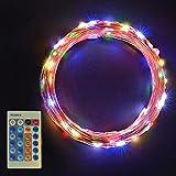 Sunix GeminiW Guirlande Lumineuse LED Etanche avec110 Micro LED étoilées 11m décoration maison, Jeu de Lumière, Décoration Intérieure en Cuivre, Pour Noël, Mariages (Multi-colore)