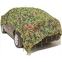 icase4u ® Alto Quality Ejército Woodland Red de camuflaje militar camuflaje tarnung UV Best integrado Caza Camping Outdoor Camo red No inflamable (3Tamaños), 3m*4m