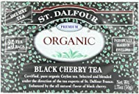 ST. DALFOUR Organic Tea, Tea Bags, Black Cherry, 1.75-Ounce Bags, 25-Count Boxes (Pack of 6)