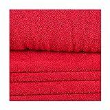 Tissu éponge - Rouge - Largeur 150 cm- Longueur au choix par 50cm
