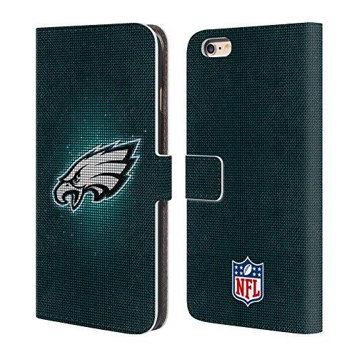Ufficiale NFL Righe 2017/18 Philadelphia Eagles Cover a portafoglio in pelle per Apple iPhone 6 / 6s LED