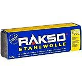 RAKSO staalwol banderol 200 g fijn 000 tussenslijpen van lak, schellak, gepolijst koper, messing & olie, was op hout