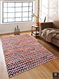 #7: Romee Multi Zigzag Recycled Cotton Dhurrie, 4ft X 6ft