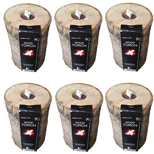 Preisvergleich Produktbild Schwedenfeuer NATUR oder CITRONELLA 6 Stck. Brenndauer 3h Schwedenfackel Gartenfackel Feuerfackel Finnenfackel (Duft Naturelle)