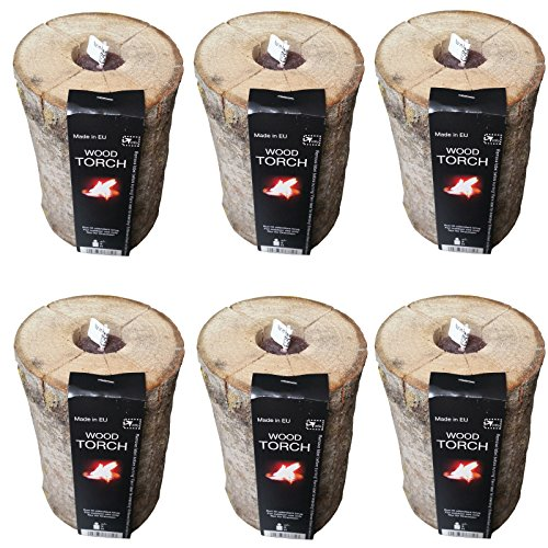 *Schwedenfeuer NATUR oder CITRONELLA 6 Stck. Brenndauer 3h Schwedenfackel Gartenfackel Feuerfackel Finnenfackel (Duft Naturelle)*