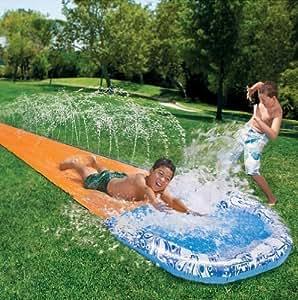 Kinder soak n splash 5 meter wasser garten wasserrutsche spr hbrause planschebecken spielzeug - Wasserrutsche garten ...
