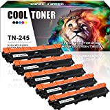 5 Pack Cool Toner Kompatibel für TN241BK TN-241 TN-245 Drucker Toner für Brother MFC-9332CDW Kompaktes 4-in-1 LED Multifunktionsgerät Farblaser Toner Brother MFC 9332CDW 9330CDW MFC-9342CDW
