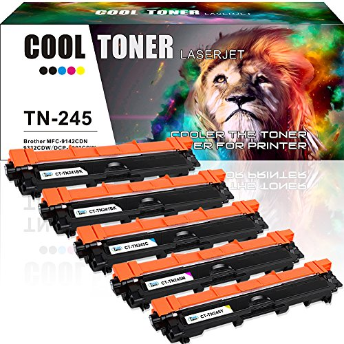 5 Toner Cool Toner Kompatibel für TN241BK TN-241 TN-245 Drucker Toner für Brother MFC-9332CDW Kompaktes 4-in-1 LED Multifunktionsgerät Farblaser Toner Brother MFC 9332CDW 9330CDW MFC-9342CDW