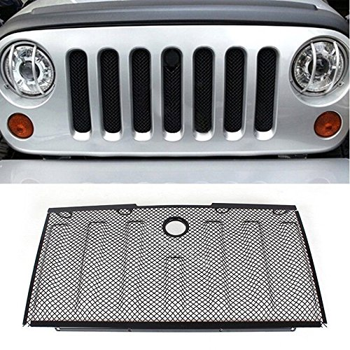 opar-black-stainless-front-hood-grille-bug-screen-3d-mesh-grill-insert-for-jeep-wrangler-jk-07-15-ex