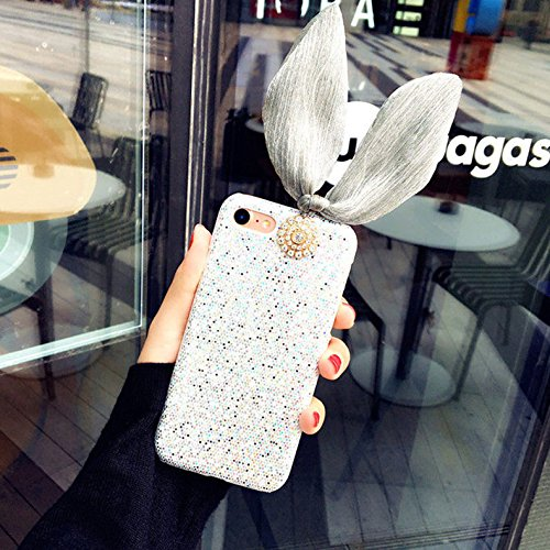 Etui pour iPhone 6 6s Transparente Housse,Vandot TPU Coque iPhone 6 6S Fashion Diamant Design Case Gel Silicone Souple Couverture iPhone 6 6S 4.7 Pouces Légère Slim Flexible Coque Protecteur Fonction  Matte-Argent