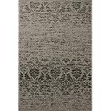 """Sona-Lux Alfombra de diseño moderno tejido plano plata """"Seleccionar el tamaño"""" 200 x 290 cm"""
