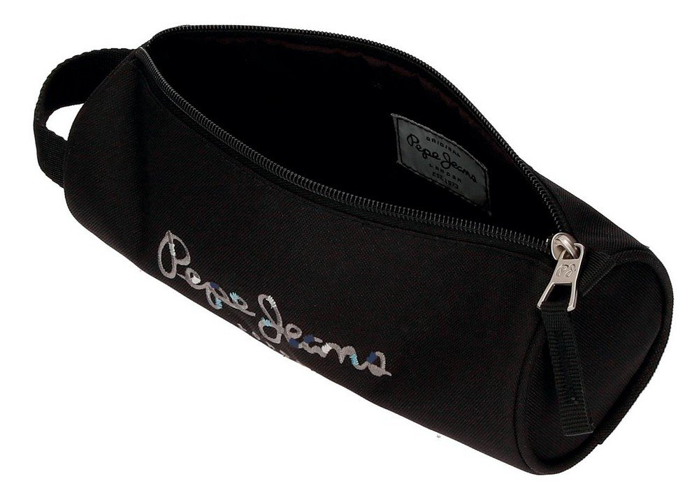 Pepe Jeans Harlow Mochila Escolar, 42 cm, 19.44 litros, Negro