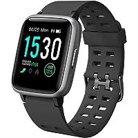 YAMAY Smartwatch Orologio Fitness Uomo Donna Impermeabile IP68 Smart Watch Cardiofrequenzimetro da Polso Contapassi…