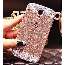 Funda para Samsung Galaxy S5,ZXK CO Carcasa Rígida Antigolpes Bling Caso Plástico PC Tapa Trasera Diseño Diamante Cristal Lujoso Fina Case Cover-Rosa Oro