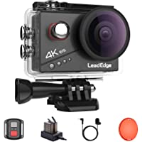LeadEdge Action Cam 4K 20MP EIS Anti-Shake Externes Mikrofon Rotfilter 2.0 IPS LCD WiFi 170 ° Weitwinkel Tauchen 40M…