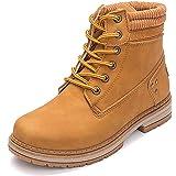 VTASQ Botas de Nieve Mujer Invierno Impermeables Comodos Cálido Zapatos Piel Forro Botines Cordones Antideslizante Aire Libre