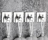FOWLAN® Handtuchhaken Haken selbstklebend handtuchhalter Bad und Küche kleiderhaken tür Handtuchhalter Ohne Bohren Badezimmer Haken Geschirrtuchhalter Wandhaken Edelstahl Hakenleiste haken ohne bohren