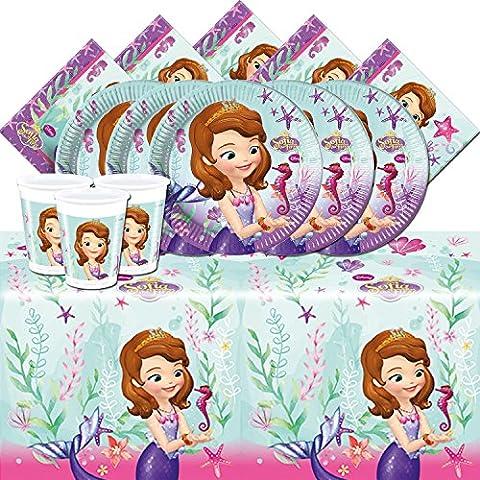Kit de fête complet Disney Princesse Sofia pour 16