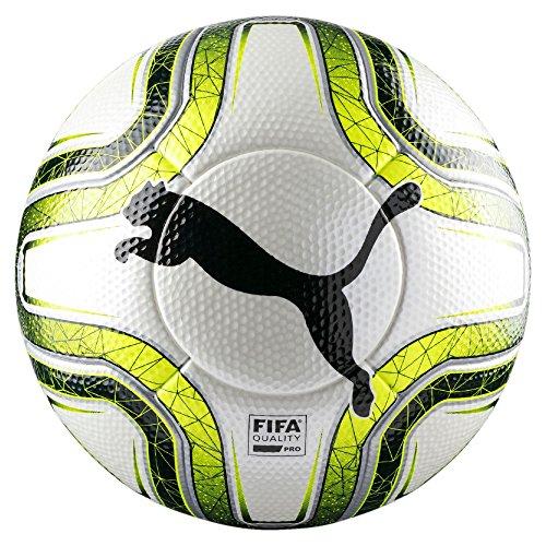 Puma FINAL 1 Statement (FIFA Quality Pro) Fußball, White/Lemon Tonic/Black, 5 -