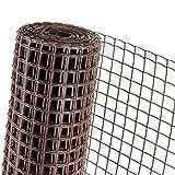 HaGa® Zaun Gartenzaun Pflanzenstütze 0,5m Höhe Masche 40mm braun (Meterware)
