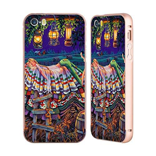 Ufficiale Denyse Klette Prime Nazioni Madre La Principessa E Il Pisello Oro Cover Contorno con Bumper in Alluminio per Apple iPhone 5 / 5s / SE Praterie