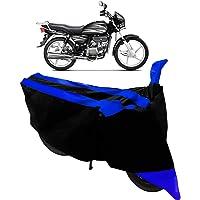 AutoKraftZ - AZ_BBC_T2_S_BKBL_048 Dust Proof Water Resistant Double Mirror Pocket Bike Body Cover for Hero Splendor Plus…