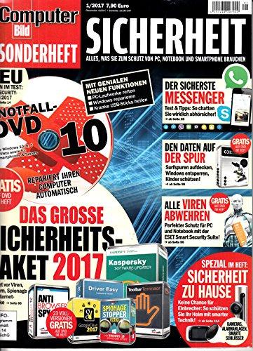 Computer Bild Sonderheft Sicherheit 1 2017 mit DVD Das große Sicherheitspaket Zeitschrift Magazin Einzelheft Heft